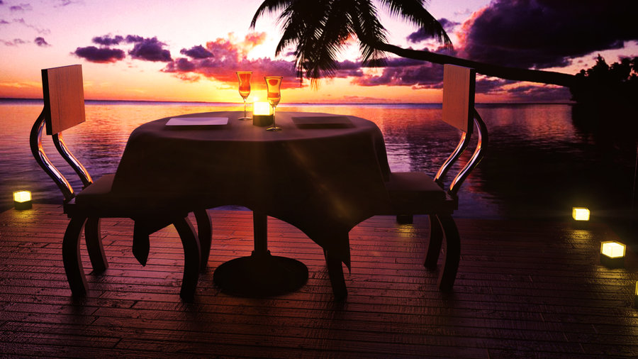 three-course candlelit dinner