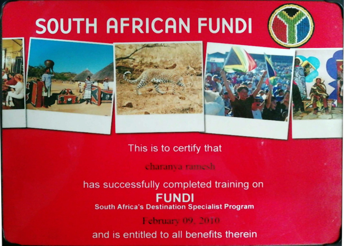 OUR ACHIEVEMENT CERTIFICATE